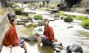 Tamatsukuri Onsen - filles en yukata