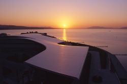 Shimane Art Museum, Matsue City, Lake Shinji Sunset, Japan