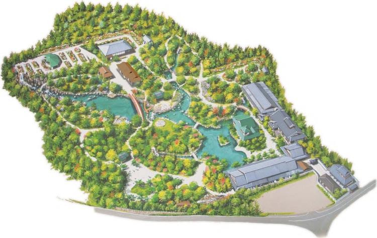 Plan du jardin japonais Yuushien