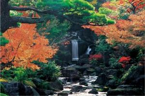La cascade du jardin