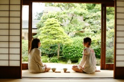 Meimei-an Tea House, Women Enjoying Tea and Wagashi, Matsue, Japan