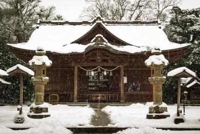 Matsue japon shimane hiver neige chateau jinja sanctuaire