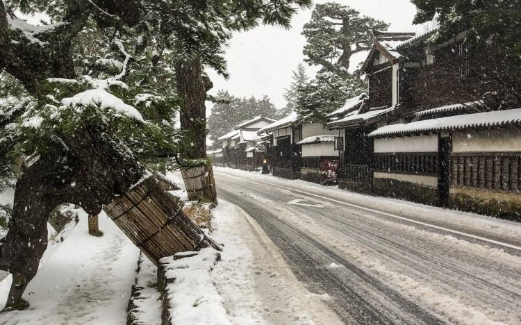 Matsue Japon shimane hiver neige shiomi nawate