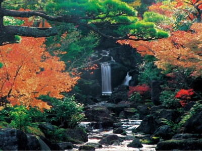 Yuushien yushien garden japonais jardin Matsue Shimane Japon Japan tourisme voyage vacances rural