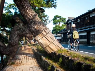 Shiomi Nawate rue historique Chateau Matsue Matsue Shimane Japon Japon Castle rural donjon Edo histoire voyage tourisme authentique