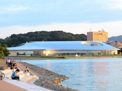 Musée art d'art lac shinji coucher soleil estampes Matsue Shimane Japon Japon Castle rural donjon Edo histoire voyage tourisme authentique