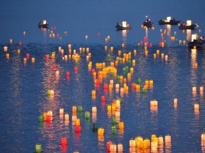 Matsue Shimane Japon tourisme voyage trip rural authentique reculé toro nagashi lanternes bougie obon o-bon tradition ancêtres festival rituel