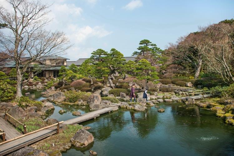 Matsue shimane japon tourisme voyage trip rural authentique jardin japonais traditionnel yushien yuushien pivoine ginseng