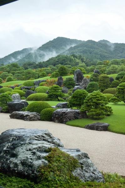 musée art Adachi Yasugi jardin traditionnel tableau vivant shakkei paysage emprunté perspective teien Matsue Shimane Japon tourisme voyage vacances rural