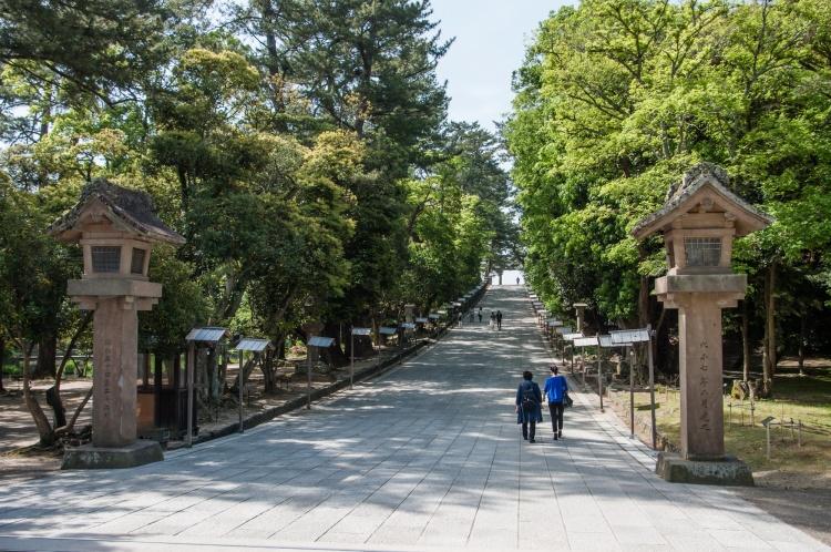 Matsue Shimane Japon tourisme voyage vacances rural sentiers battus hors izumo taisha izumotaisha izumo-taisha sanctuaire grand shinto shintô enmusubi okuninushi sacré dieux province mythologie