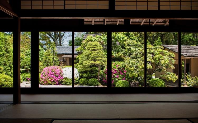 Matsue shimane japon tourisme voyage trip rural authentique pavillon thé chashitsu meimei-an meimei an meimeian shiomi nawate matcha cérémonie thé vert wagashi pâtisserie