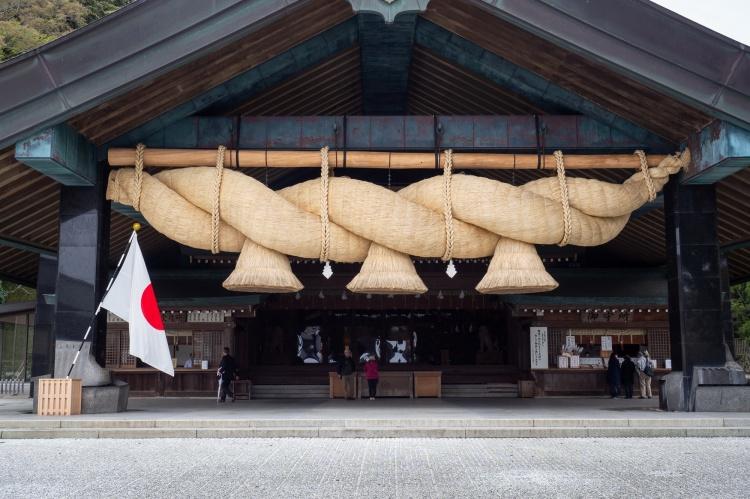 Matsue Shimane Japon tourisme voyage vacances rural sentiers battus hors izumo taisha izumotaisha izumo-taisha sanctuaire grand shinto shintô enmusubi okuninushi sacré dieux province mythologie shimanawa