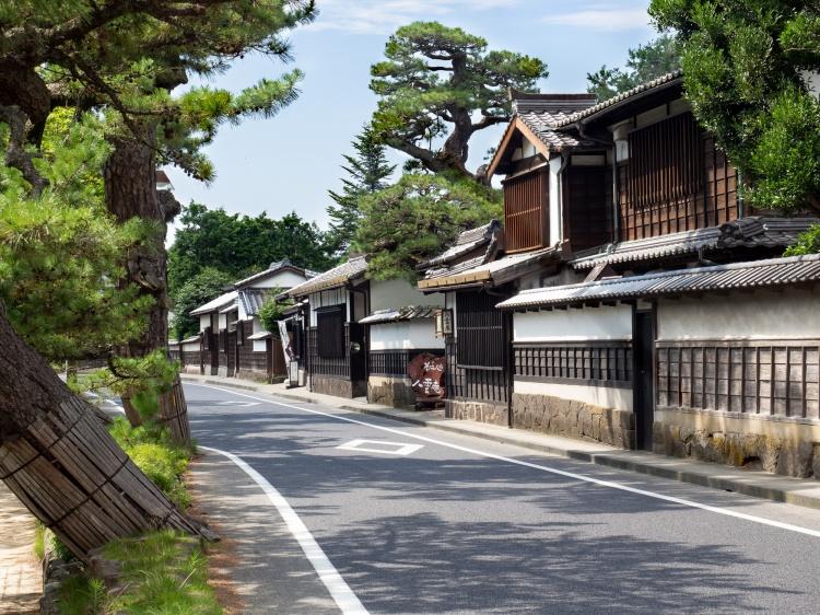 Matsue shimane japon tourisme voyage trip rural authentique époque epoque edo shiomi nawate rue historique bois authentique